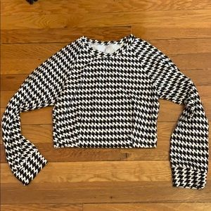 American Apparel Other - American apparel houndstooth skirt crop top set M